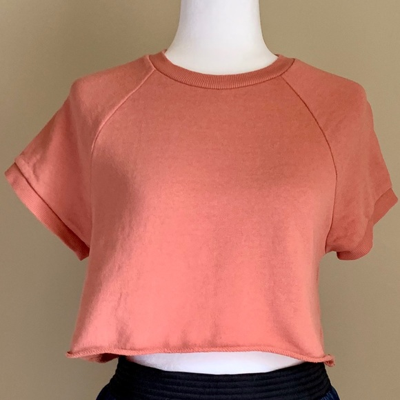 Forever 21 Tops - Forever 21 Orange SS cropped sweatshirt, Sz S
